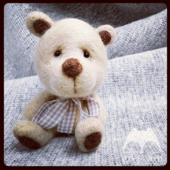 #felt #bear #needlefelting #teddy #pooky