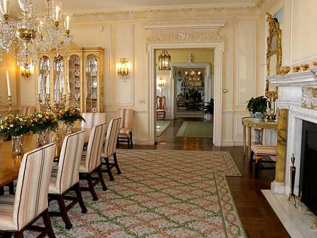 Ornate Dining Hall in Historic Fairholme Mansion, Newport