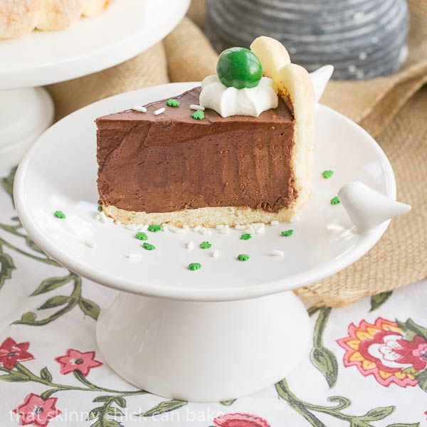This Irish Chocolate Mousse Cake is infused with Irish Cream for your St. Patrick's Day pleasure.