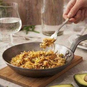 Stekt ris med köttfärs