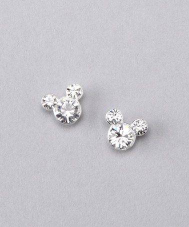 Take a look at this Jewel Sterling Silver Mickey April Earrings by Disney Jewelry on #zulily today!