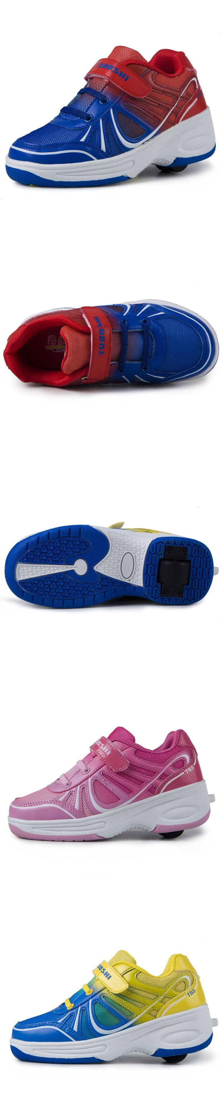 Zumiez roller skates - 2016 Heelies For Kids Shoes With Wheels Roller Skate Shoes For Kids Heelys Children Kids Sneakers With Wheels Chaussure Enfant