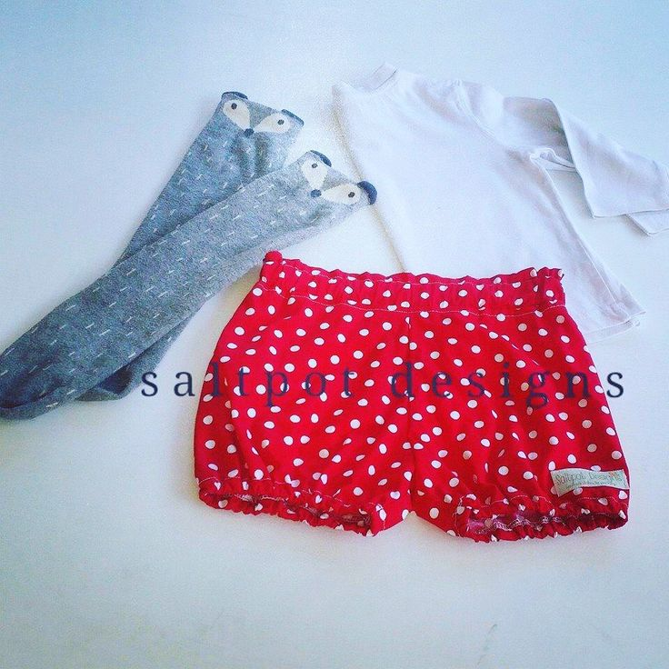 Such a cute way to style these fire engine red bloomers. A must for any active little one.