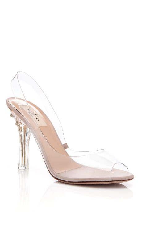 Naked Rockstud Sandal by Valentino.  Seriously beautiful. Like glass slippers.