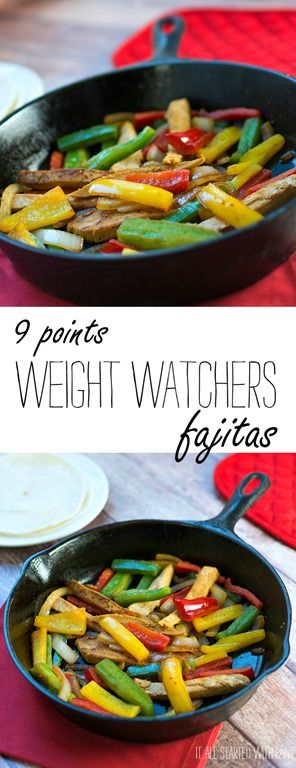 Weight Watchers fajita recipe - 9 Points | Quick, Easy, Delicious & Filling