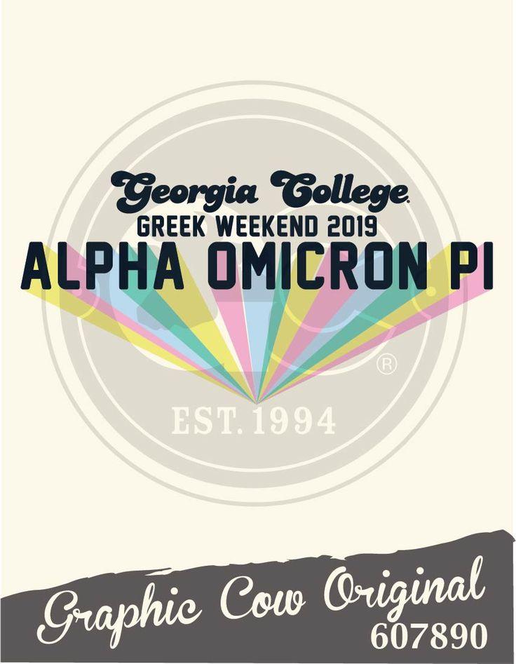 Georgia College Greek Weekend Alpha Omicron Pi – GREEK WEEK