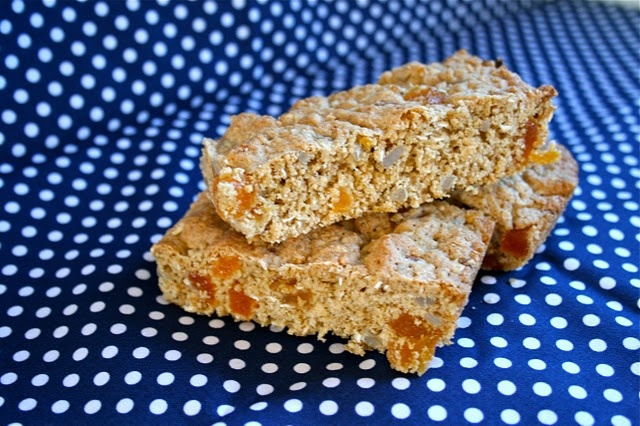 Thermomix Cooking - Oat & Apricot Slice.