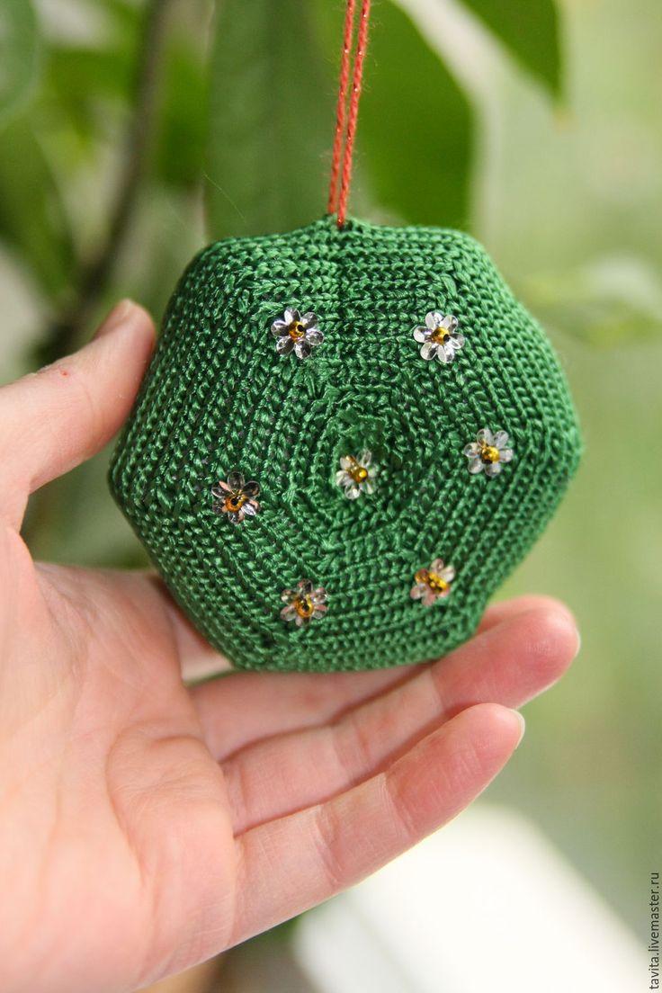"""Купить Новогоднее украшение """"Полянка"""". - зеленый, урашение, Новый Год, новогодние украшения, елка"""