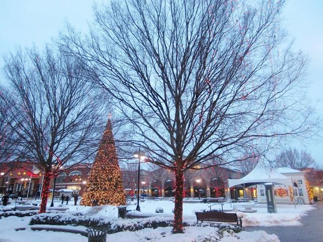 christmas tree lit up with christmas lights under snow in the evening at the greene in dayton ohio creek geek beavercreek oh pinterest dayton - Christmas Lights In Dayton Ohio