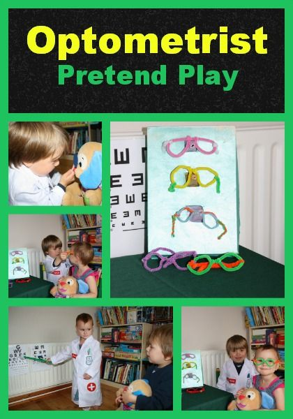 Optician's Office Pretend Play - Crystal's Tiny Treasures - I love all the details she includes!  Plus, they get to practice some letters!