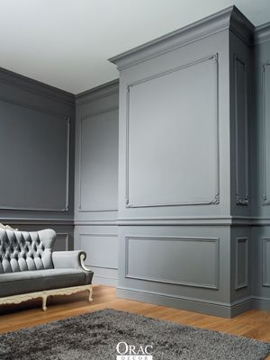 Painted Gray Moldings and Wall Inspiration