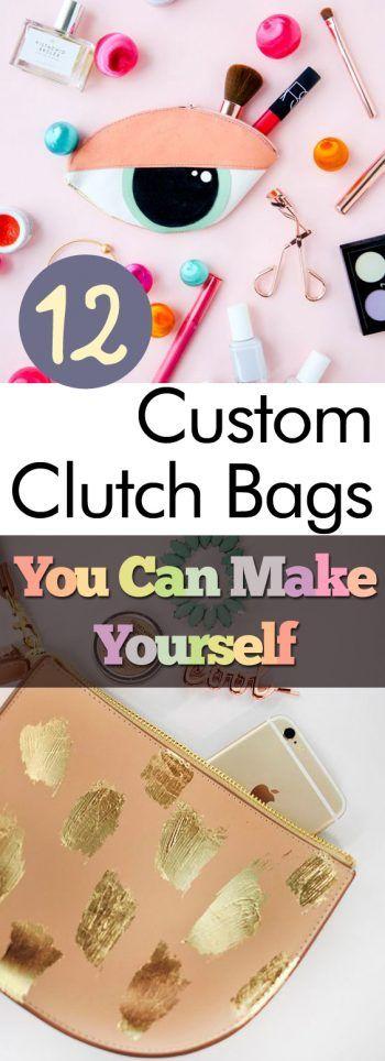 12 Custom Clutch Bags You Can Make Yourself| Custom Clutch Bags, DIY Clutch Bags, Clutch Bag Projects, No Sew, No Sew Craft Projects, No Sew Bags, No Sew Clutch Bags, DIY Clutch Bags, DIY Accessories #NoSew #DIY #ClutchBag