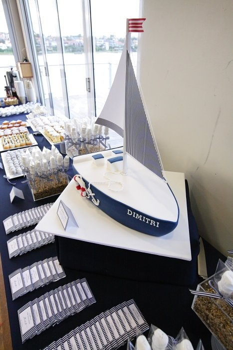 nautical decoration for baptisim | Nautical Theme Christening and Dessert Table - Le Petit