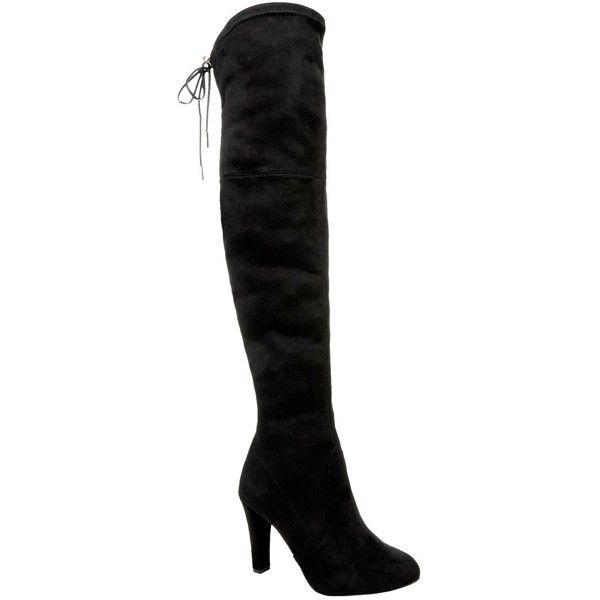 Carvela Kurt Geiger Sammy Over-The-Knee Boot ($245) ❤ liked on Polyvore featuring shoes, boots, over knee boots, thigh boots, above knee boots, tie boots and carvela kurt geiger