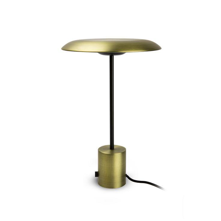 Lámpara de mesa estilo retro metálica #decoracion #iluminacion #interiorismo #diseño #lamparas #lamparasmesa #lamparasbonitas