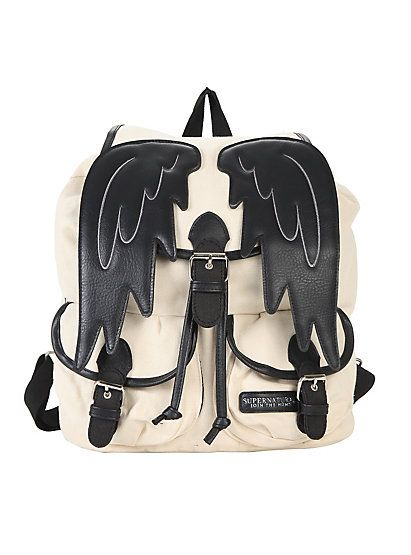 Supernatural Castiel Wings Slouch BackpackSupernatural Castiel Wings Slouch Backpack,