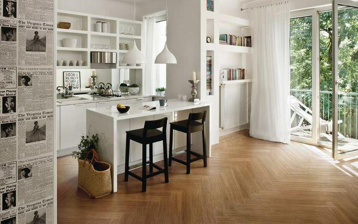 soluzione salva spazio.cucina semi aperta