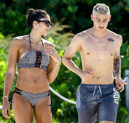 James Rodriguez with his wife Daniela 29.6.16