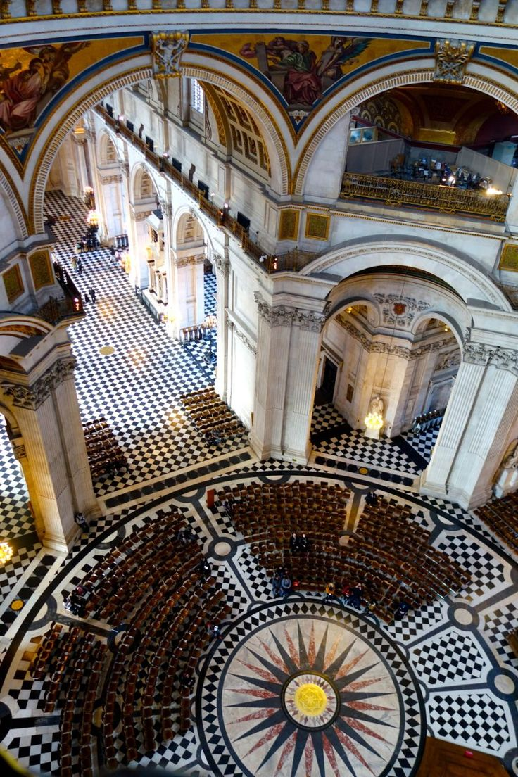 The floor under the dome in St. Paul's Cathedral, as Marielle saw it from the Whispering Gallery.