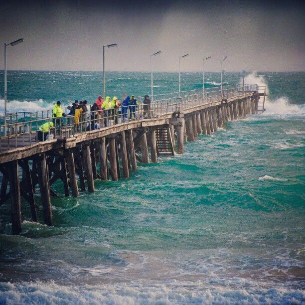 Really stormy tonight in Adelaide, Australia!  #port #noarlunga #reef #pier #sea #stormy #adelaide #australia #cold #fishing - @Kevin Mann Mann Munro- #webstagram • Adelaide's beaches