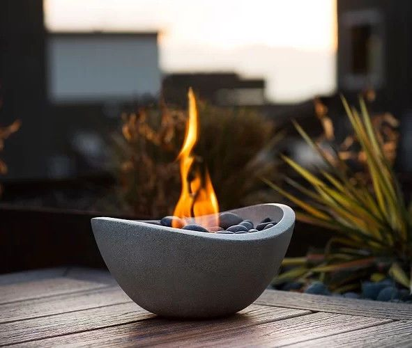 Cool Details About Tabletop Fire Pit Table Fireplace Gel Stone Home Interior And Landscaping Transignezvosmurscom