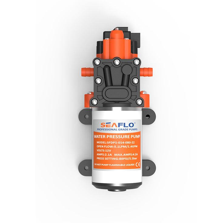 SEAFLO 80 PSI Pompa di Pressione Dell'acqua 5.1 LPM 12 V Pompa Elettrica In Grado di essere funzionare a secco Marine/RV