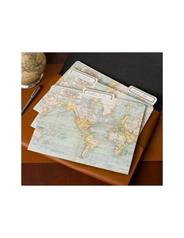 Carpetas Cavallini Mapas del Mundo