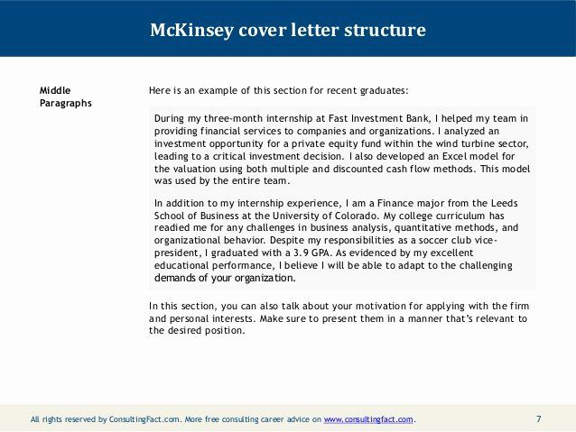 Consulting Proposal Template Mckinsey Elegant Mckinsey Cover Letter Sample In 2020 Sample Resume Cover Letter Cover Letter For Resume Cover Letter For Internship