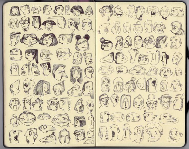 Diseño de personajes: Bocetos. Cap.1 | Blog de diseño gráfico y creatividad.