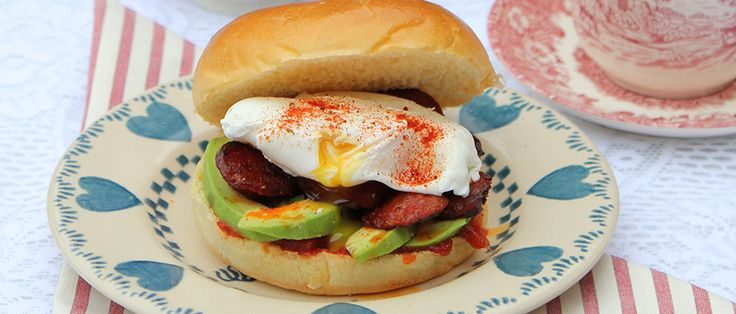 Chorizo, Avocado & Poached Egg Brunch Bap by Nessa Robins. | A deliciously simple brunch and breakfast treat.