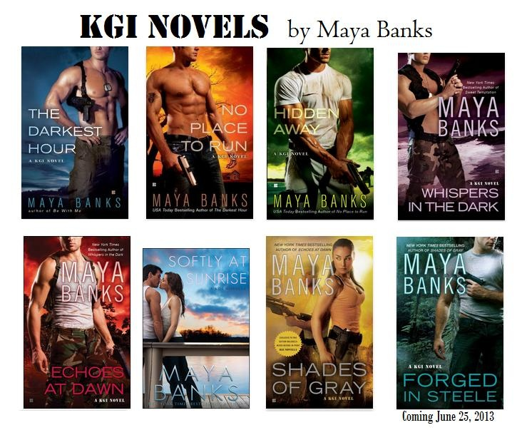 Maya Banks - KGI series (Contemporary Romance) ... I can't wait until Joe takes the plunge!