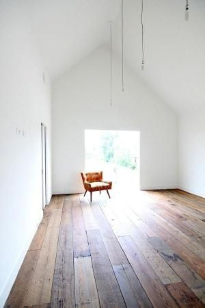 Plywood floor using different wood types with same stain. LOVE LOVE this floor!!!!