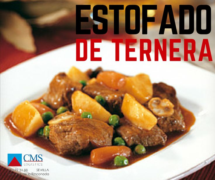 ESTOFADO DE TERNERA  Perfecto plato para su menú, elaborado con un 38% de carne de ternera, patatas, zanahoria, guisantes, champiñones, cebolla, tomate y una piza de aceite y vino. Un delicioso y completo plato que sólo tendrás que calentar http://cmslogistics.es/carnes/163-estofado-de-ternera.html  #ternera #estofado #food #foodies #sevilla