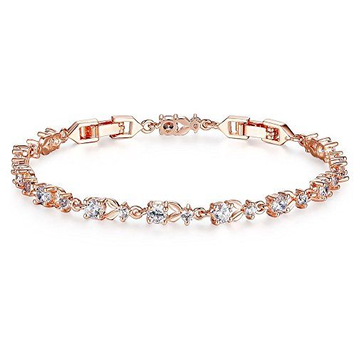 Crystal Wings Platinum Plated Multicolor Shiny Cubic Zirconia crystal Bracelet Luxuly Wedding Party tennis Jewelry for women girls wpfoS