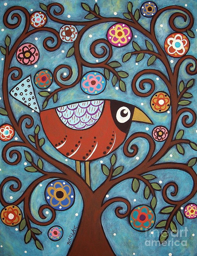 Funky Bird Painting  - Funky Bird Fine Art Print
