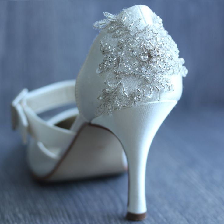 """Donna Crain's embellished shoes  make you feel extra special on your Big day!  For more Alternative Wedding inspiration, check out the No Ordinary Wedding article """"20 Quirky Alternatives to the Traditional Wedding""""  http://www.noordinarywedding.com/inspiration/20-quirky-alternatives-traditional-wedding-part-2"""
