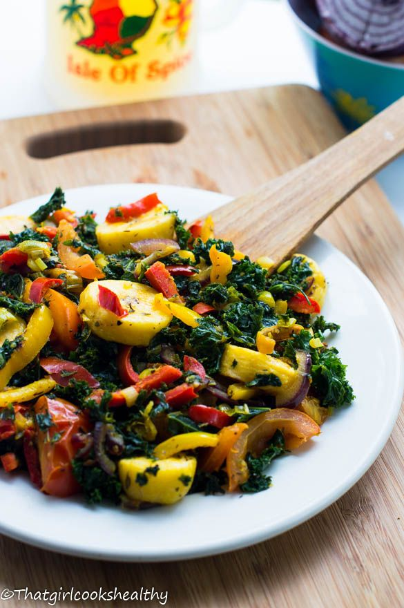 plantains with kale | that girl cooks healthy #caribbean