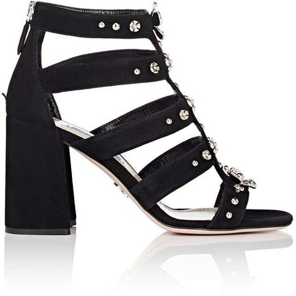 ce057d80bae Prada Women s Flower-Embellished Suede Gladiator Sandals ( 1