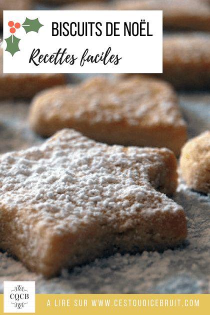 Recette des biscuits de Noêl