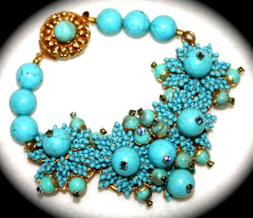 Stanley Hagler N Y C Bracelet Vintage Glass Beads Seed Beads Part of Parure | eBay