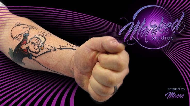 17 best images about popeye arm tattoo on pinterest for Ink flow tattoo