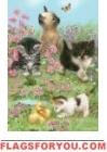 Meadow Kittens Garden Flag
