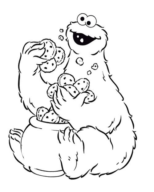 39 best images about animation coloring pages on pinterest for Cookie monster coloring pages printable