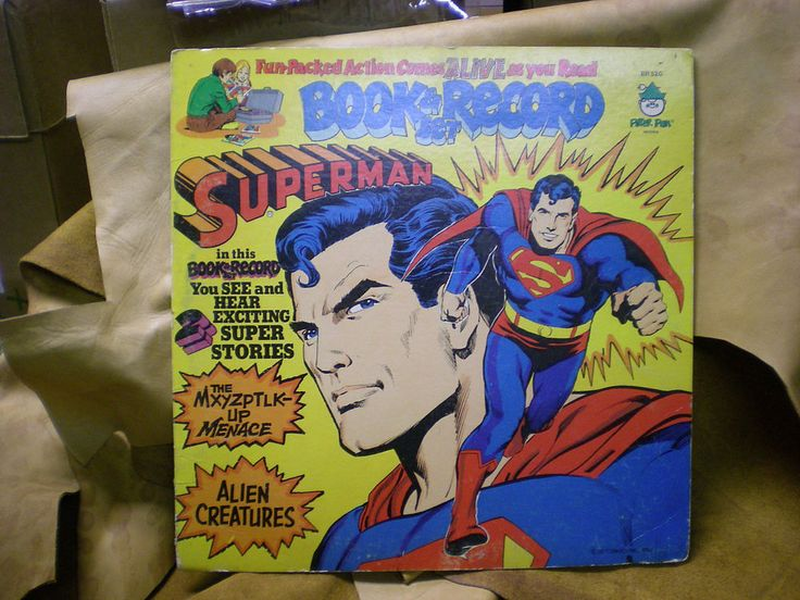Superman Book and Record Set #520, 1978, Peter Pan Power Records