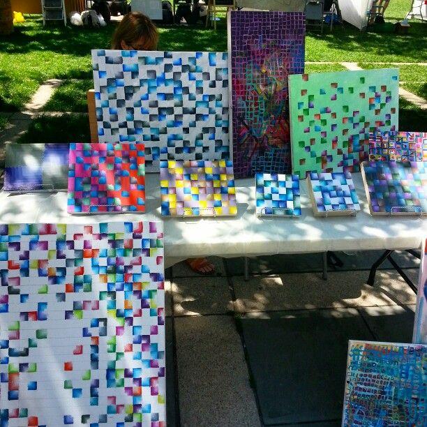 Faded hues series at City Art Crawl Toronto. #art #Toronto #painting