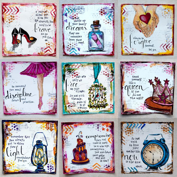 Journal Ideas 3 Small little boxes of inspiration and art to add to the art journal