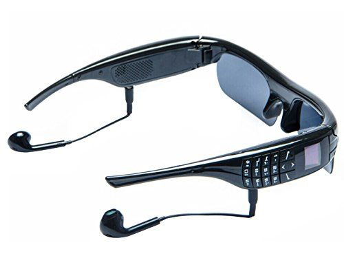 Smart Glasses GSM Mobile Phone for Driving Travel with Hd Bluetooth 4.1 Stereo Music Play Video Record Camera * Click image to review more details.