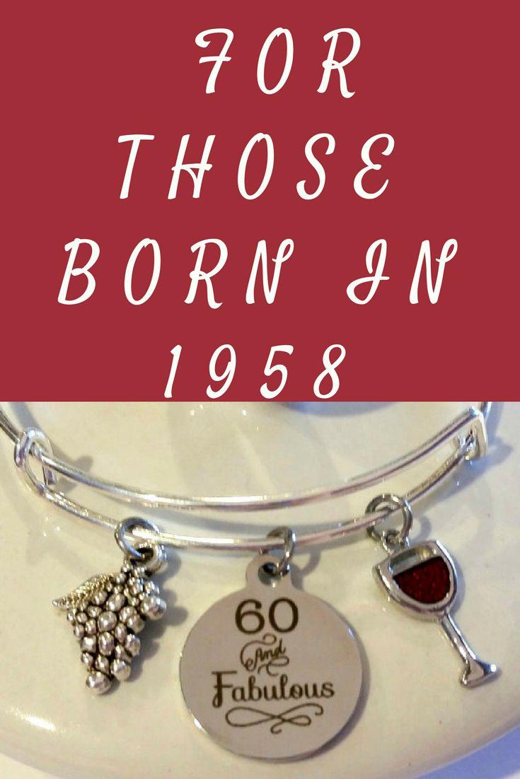 60th birthday bracelet 60 and fabulous 60th birthday