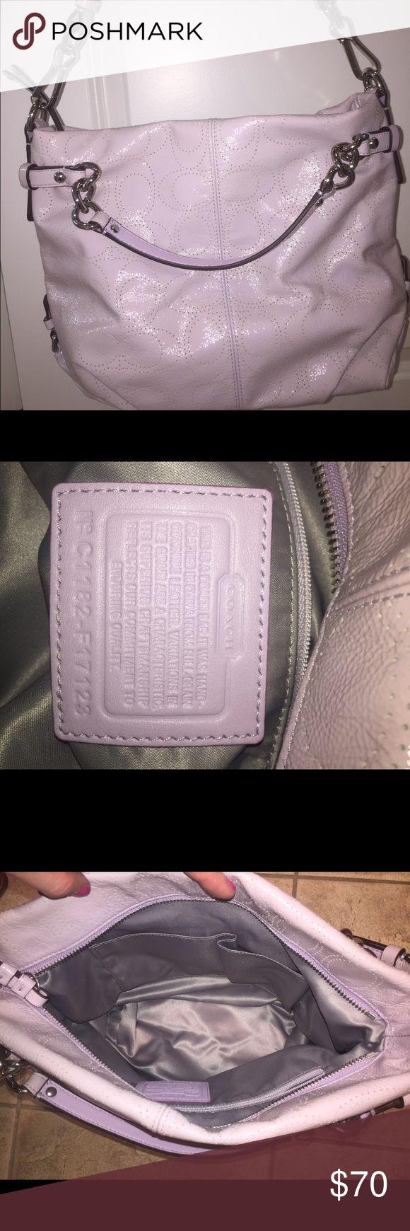 Lavender Coach Purse Lavender Coach Purse, never used, side Zipper pockets, phone/sunglasses pocket Coach Bags Shoulder Bags