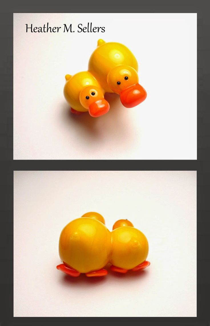 """""""A Mother's Love - Ducks"""" by Heather Sellers, lampwork glass bead artist and designer. Special thanks to Donna at CG Beadrollers."""